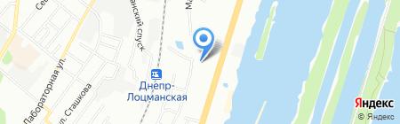 Насолода на карте Днепропетровска
