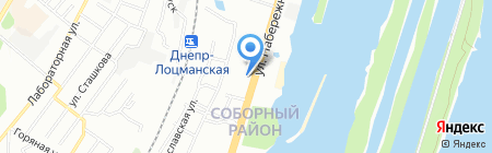 Ю-Сервис на карте Днепропетровска