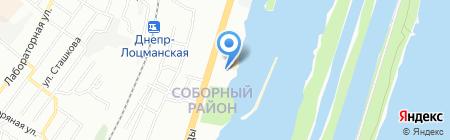 Якорь на карте Днепропетровска