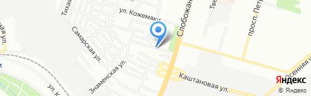 Дарницкий на карте Днепропетровска