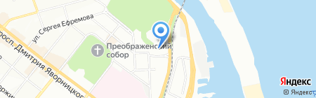 Гилас на карте Днепропетровска