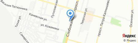 Ветаптека на карте Днепропетровска