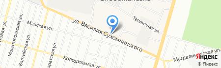 Рыбница на карте Днепропетровска