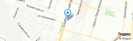 Смачні обіди на карте Днепропетровска
