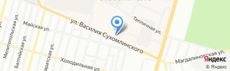 Фрунзенське міжрайонне управління водного господарства на карте Днепропетровска