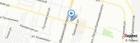 Срочный ремонт на Калиновой на карте Днепропетровска