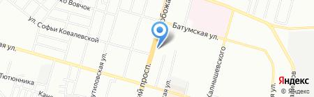 Банкомат ВСЕУКРАЇНСЬКИЙ БАНК РОЗВИТКУ на карте Днепропетровска