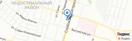 Силуэт на карте Днепропетровска