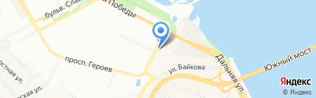 Летний уголок на карте Днепропетровска