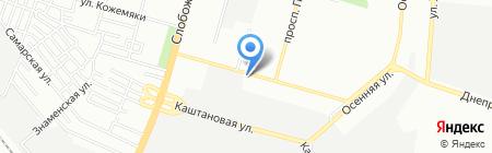 Вікторія на карте Днепропетровска