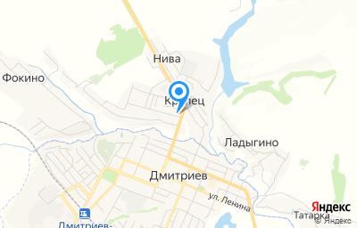 Местоположение на карте пункта техосмотра по адресу Курская обл, Дмитриевский р-н, с Крупец, зд 204А