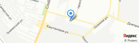 Пира на карте Днепропетровска