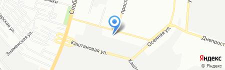 СанТехСвіт на карте Днепропетровска
