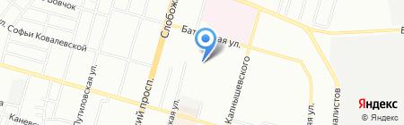 Середня загальноосвітня школа №14 на карте Днепропетровска