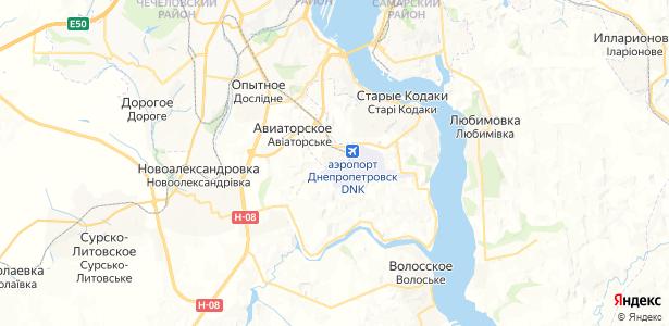 Авиаторское на карте