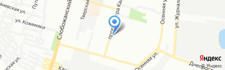Цифрова Поляна на карте Днепропетровска