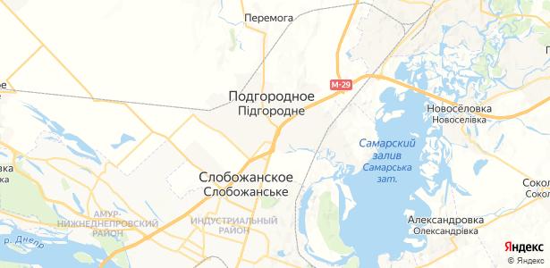 Подгородное на карте