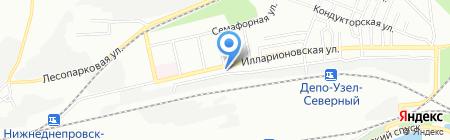 Банкомат Ощадбанк на карте Днепропетровска