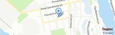 На площі на карте Днепропетровска