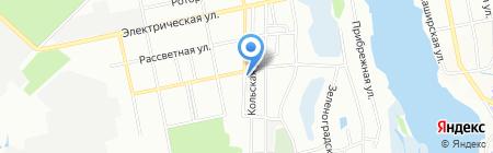 Продуктовый магазин на Кольской на карте Днепропетровска