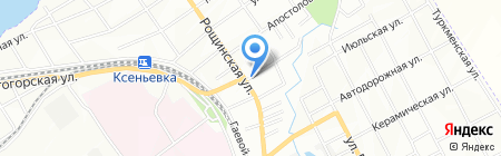 Веночек на карте Днепропетровска