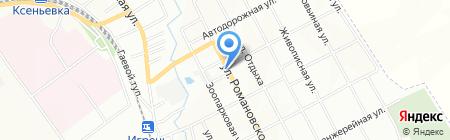 Смачне курча на карте Днепропетровска