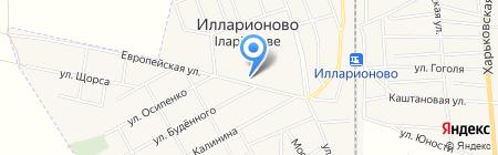 Школьный на карте Илларионово