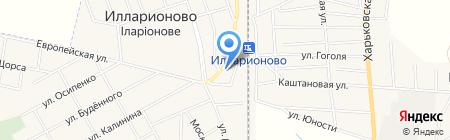 Серебряные ножницы на карте Илларионово