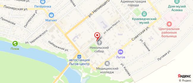 Карта расположения пункта доставки Westfalika в городе Льгов