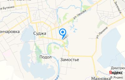 Местоположение на карте пункта техосмотра по адресу Курская обл, г Суджа, ул Ленина, д 35