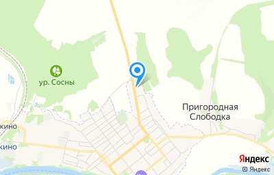 Местоположение на карте пункта техосмотра по адресу Курская обл, Льговский р-н, с Пригородная Слободка, ул Комсомольская