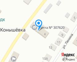 Схема местоположения почтового отделения 307620