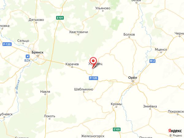 поселок Звезда на карте