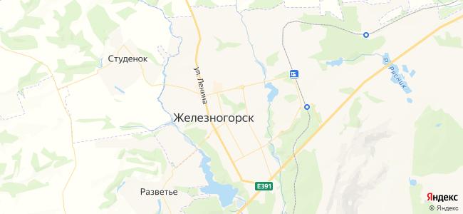 Железногорск (Курская область) - объекты на карте