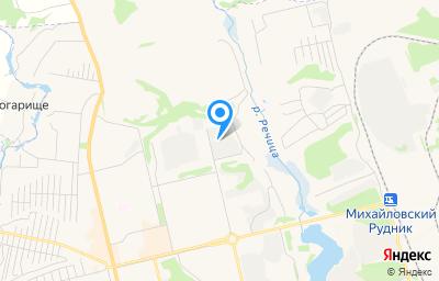 Местоположение на карте пункта техосмотра по адресу Курская обл, г Железногорск, ул Мира, д 67