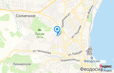 Местоположение на карте пункта техосмотра по адресу Респ Крым, г Феодосия, ул Володарского, д 39А