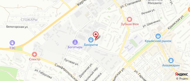 Карта расположения пункта доставки На Гарнаева в городе Феодосия