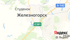Гостиницы города Железногорск на карте