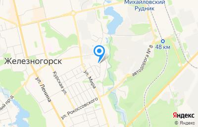 Местоположение на карте пункта техосмотра по адресу Курская обл, г Железногорск, проезд Черняковский, зд 26
