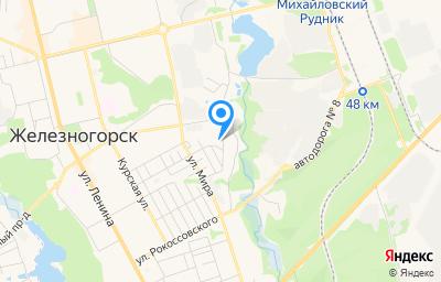 Местоположение на карте пункта техосмотра по адресу Курская обл, г Железногорск, проезд Черняковский, д 26