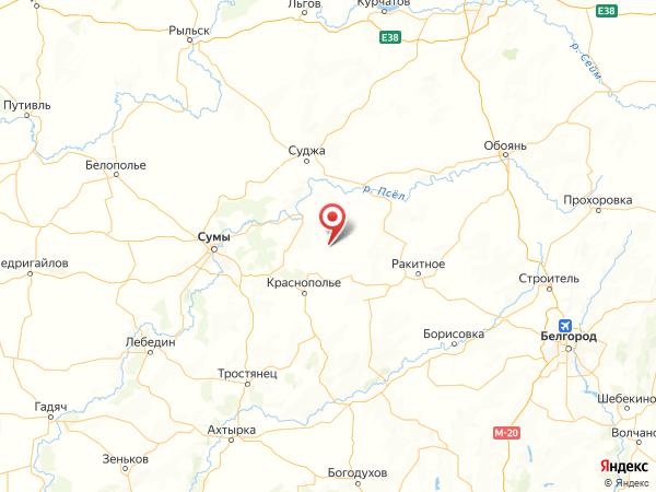 село Марьино на карте