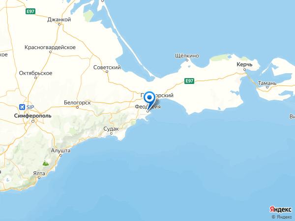 Феодосия на карте