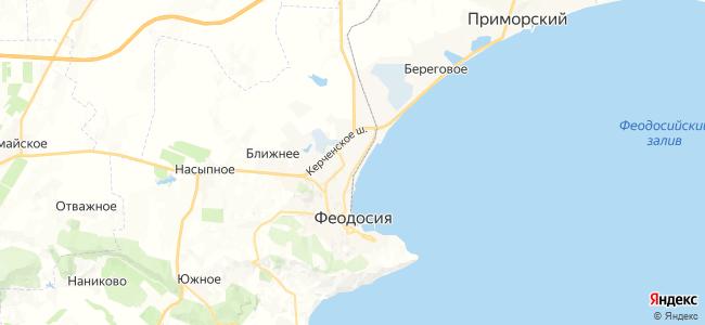 Частный сектор Феодосии - объекты на карте
