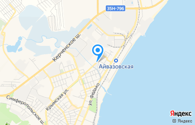 Местоположение на карте пункта техосмотра по адресу Респ Крым, г Феодосия, ул Насыпная, д 1Б