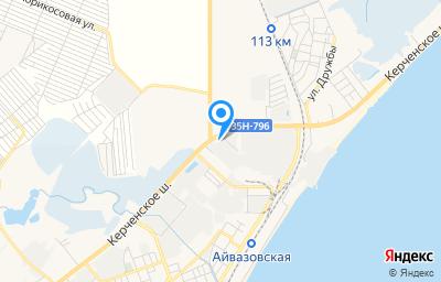 Местоположение на карте пункта техосмотра по адресу Респ Крым, г Феодосия, ш Керченское, д 44Ж