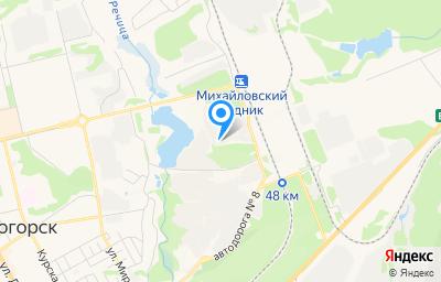 Местоположение на карте пункта техосмотра по адресу Курская обл, г Железногорск, мкр Промплощадка-2