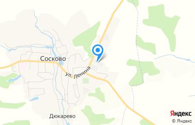 Местоположение на карте пункта техосмотра по адресу Орловская обл, с Сосково, ул Шоссейная