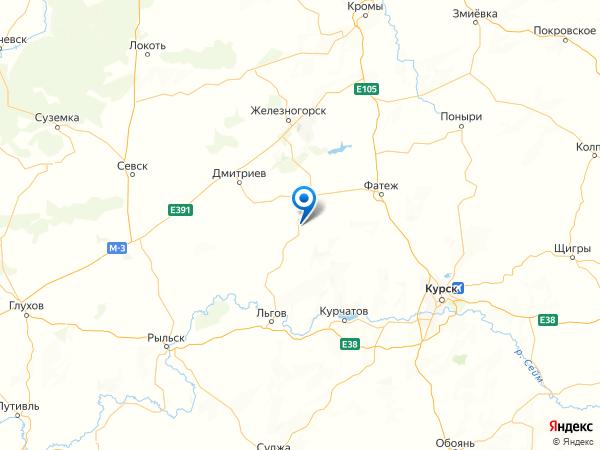 деревня Рассвет на карте