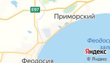 Гостиницы города Береговое (Феодосия) на карте