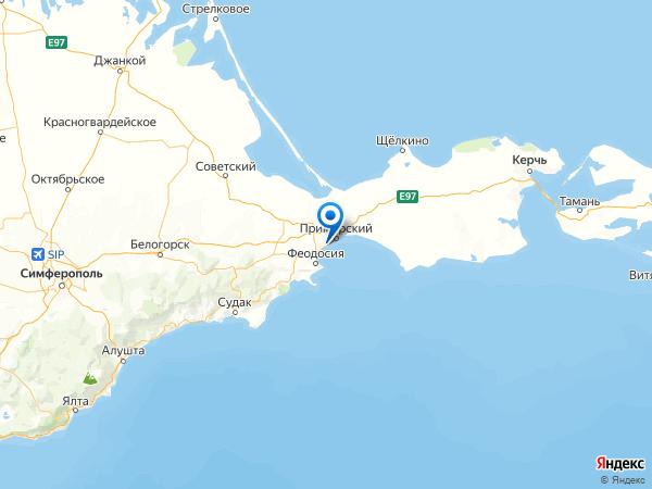 село Береговое на карте